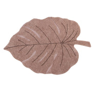 Lorena Canals Machine Washable Rug - Monstera Leaf Vintage Nude
