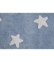 Lorena Canals Machine Washable Rug - Stars Blue/White