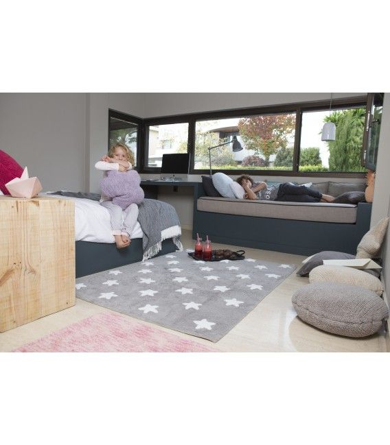 LORENA CANALS STARS WASHABLE RUG - GREY | WHITE