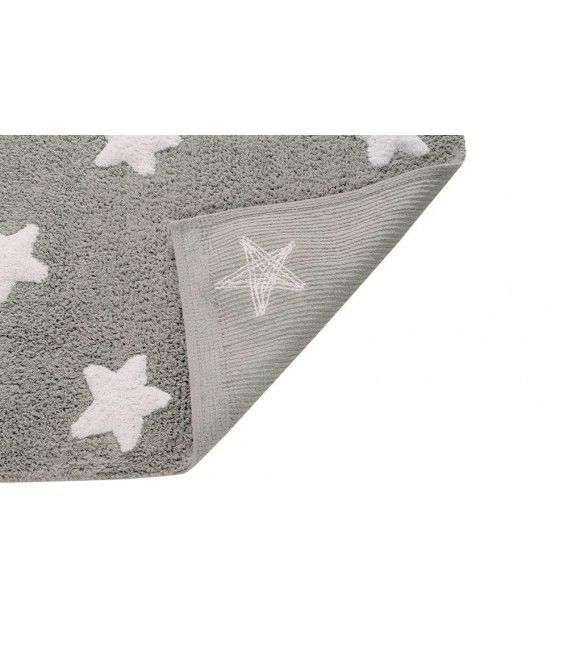 Lorena Canals Machine Washable Rug - Stars Grey/White