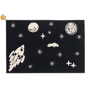 LORENA CANALS UNIVERSE BLACK WASHABLE RUG