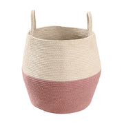 LORENA CANALS ZOCO COTTON BASKET - ASH ROSE | NATURAL
