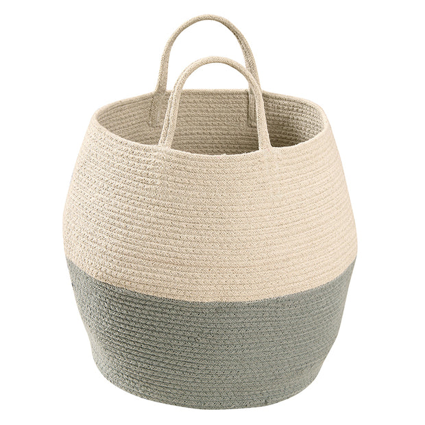LORENA CANALS ZOCO COTTON BASKET - VINTAGE BLUE | NATURAL