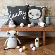LUCKY BOY SUNDAY CUSHION - GREY LUCKY