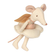 MAILEG ANGEL MOUSE IN A BOOK - BIG SISTER