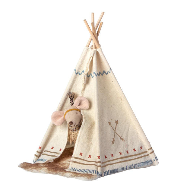 MAILEG LITTLE FEATHER MOUSE + TENT