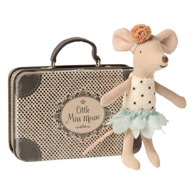 MAILEG LITTLE MISS MOUSE - LITTLE SISTER IN A SUITCASE