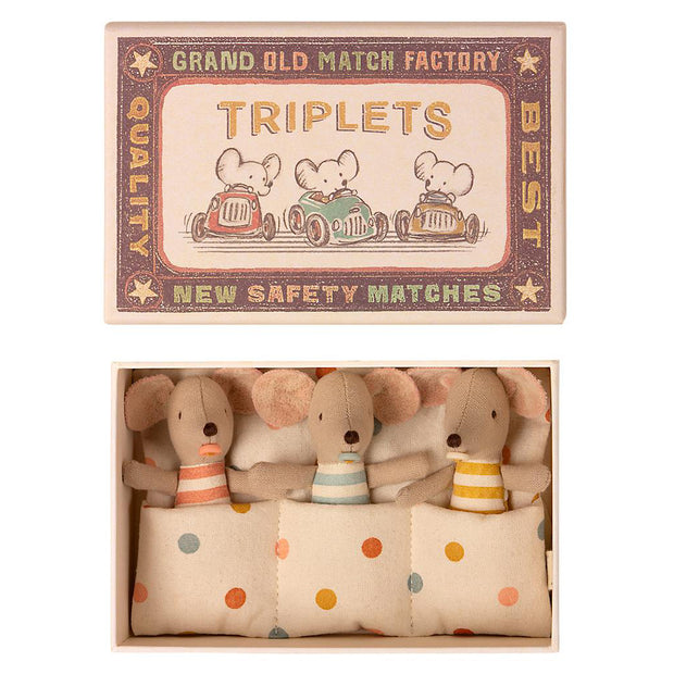 Maileg Baby Mice - Triplet in a Box