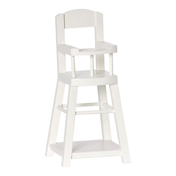 MAILEG MICRO WOODEN HIGH CHAIR - WHITE