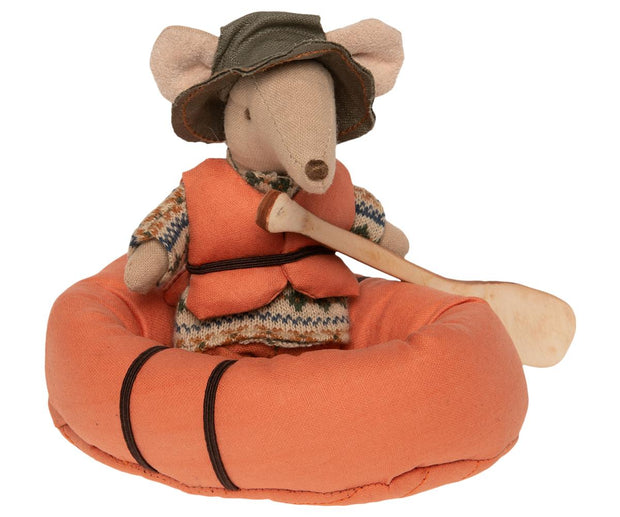 Maileg Mouse in a Rubber Boat
