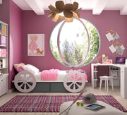 Mathy By Bols Princess Carriage Childs Single Bed - Colour Lacquer (20+ Colours)