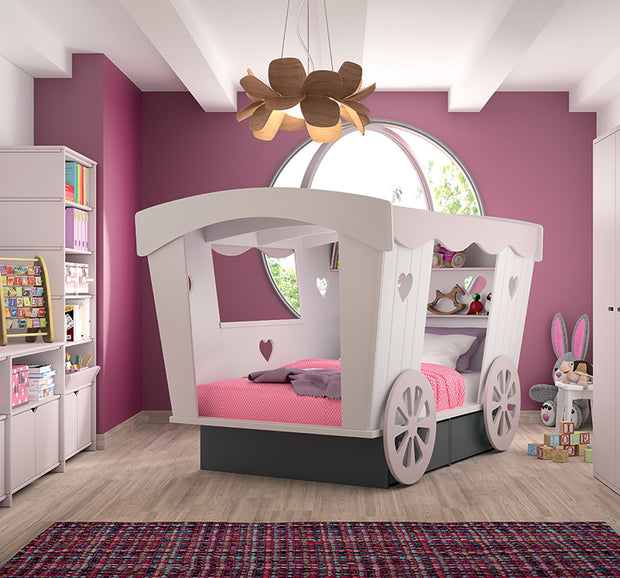 MATHY BY BOLS PRINCESS CARRIAGE BED - COLOUR LACQUER (20+ COLOURS)