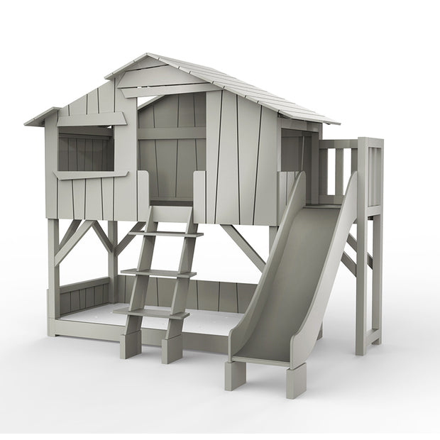 MATHY BY BOLS TREEHOUSE BUNK BED WITH SLIDE - (AVAILABLE IN 26 COLOURS)