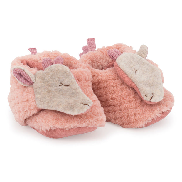 Moulin Roty Soft Baby Slippers - Giraffe