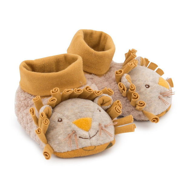 Moulin Roty Soft Baby Slippers - Lion
