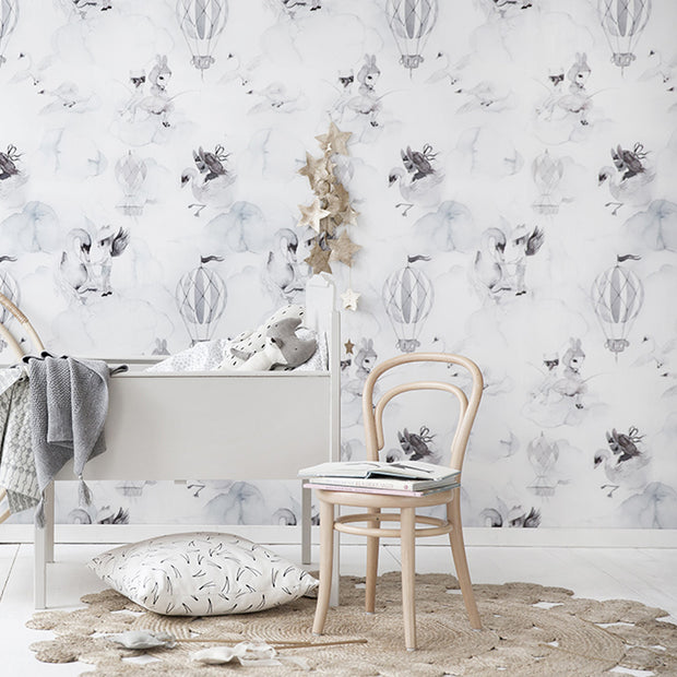 Jimmy Cricket Wallpaper - Oh Cloud, Light Grey