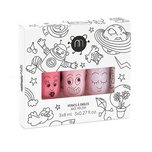 NAILMATIC KIDS WATER BASED NAIL POLISH 3 PACK - COOKIE | BELLA | POLLY