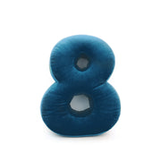 Velvet Number Cushion (6 Optional Colours)