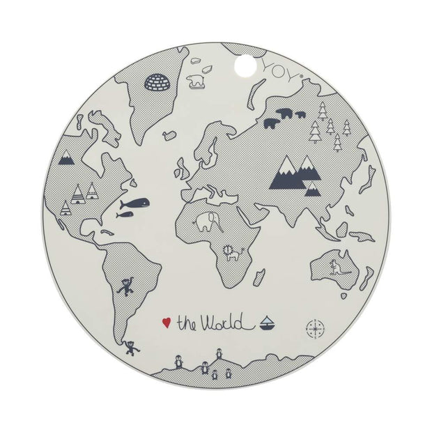 OYOY World Placemat - Offwhite