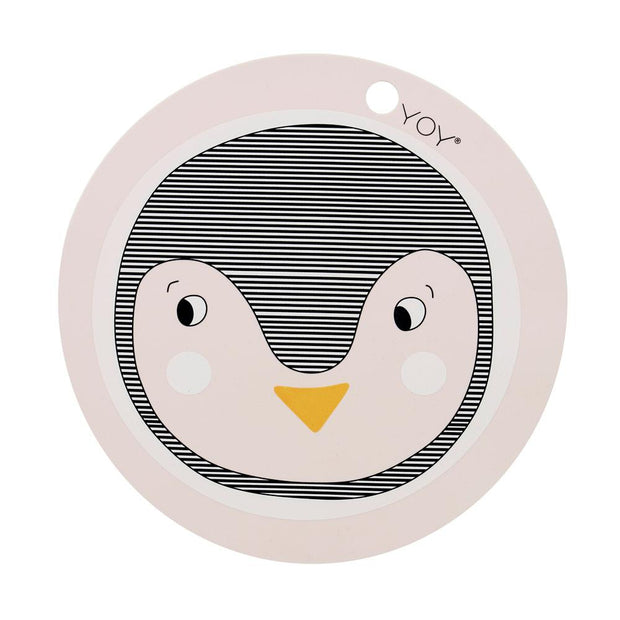 OYOY Penguin Placemat - Rose