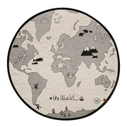 OYOY WORLD RUG - NATURAL | BLACK