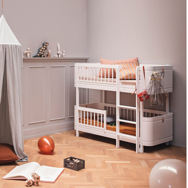 OLIVER FURNITURE WOOD MINI+ LOW BUNK BED - WHITE