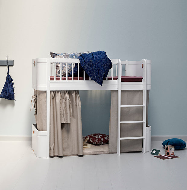 OLIVER FURNITURE MINI + LOW LOFT BED - WHITE
