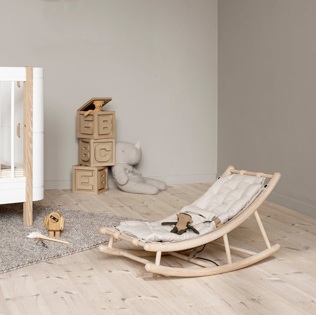Oliver Furniture Wood Baby & Toddler Rocker - Oak | Natural