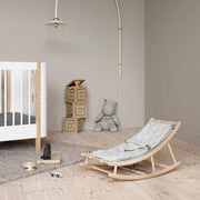 Oliver Furniture Wood Baby & Toddler Rocker - Oak | Grey