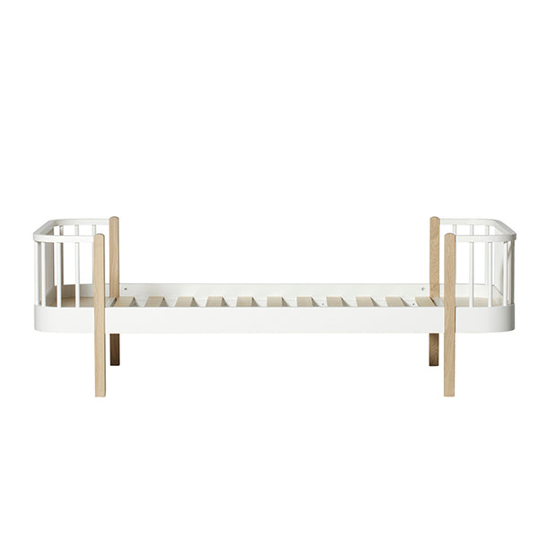 OLIVER FURNITURE WOOD KIDS SINGLE BED - WHITE | OAK