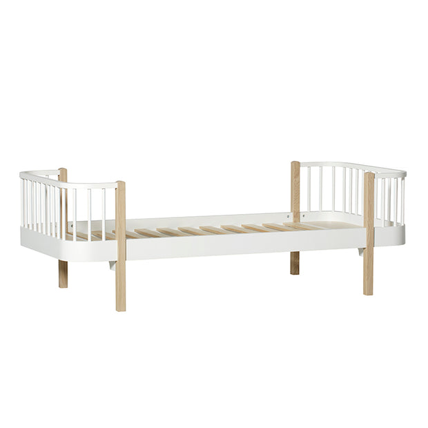 Oliver Furniture Wood Kids Single Bed - White/Oak