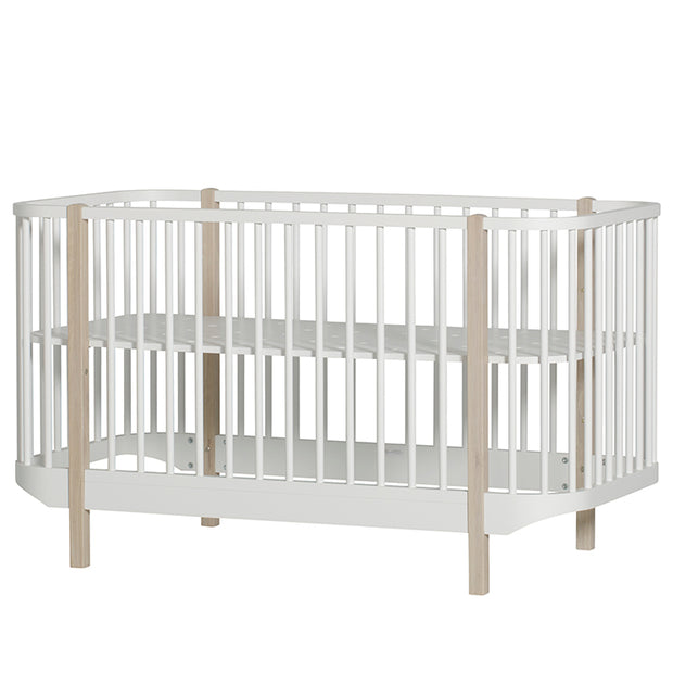 OLIVER FURNITURE WOOD COT - WHITE | OAK
