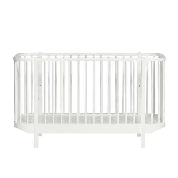 OLIVER FURNITURE WOOD COT - WHITE