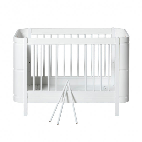 Oliver Furniture Wood Mini+ Cot Bed (0-9yrs) - White