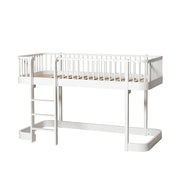 OLIVER FURNITURE WOOD LOW LOFT BED - WHITE