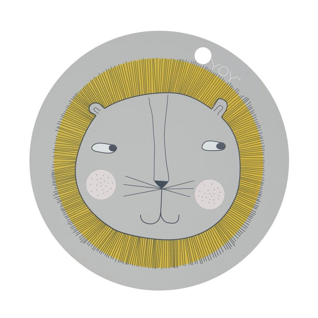 OYOY Placemat Lion - Light Grey