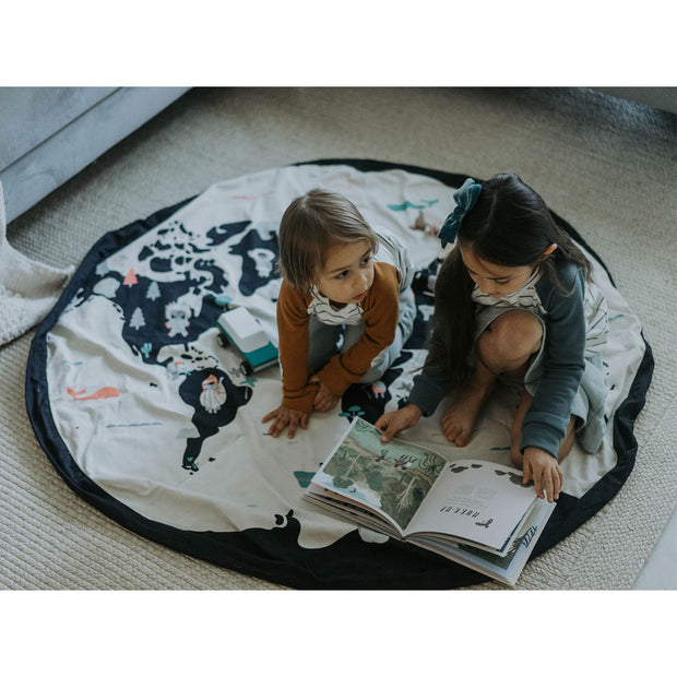 PLAY & GO TOY STORAGE BAG - WORLD MAP & STARS