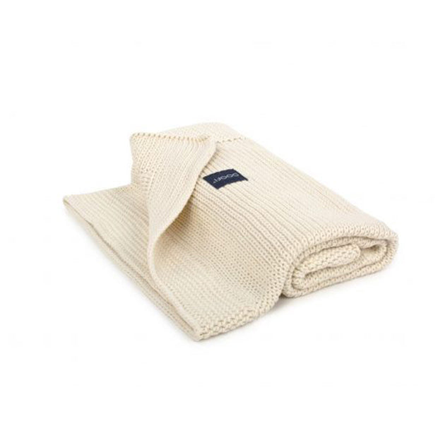 Organic Knitted Classic Blanket - Cream