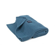 Organic Knitted Classic Blanket - Denim Blue