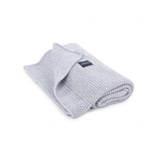 Organic Knitted Classic Blanket - Light Grey