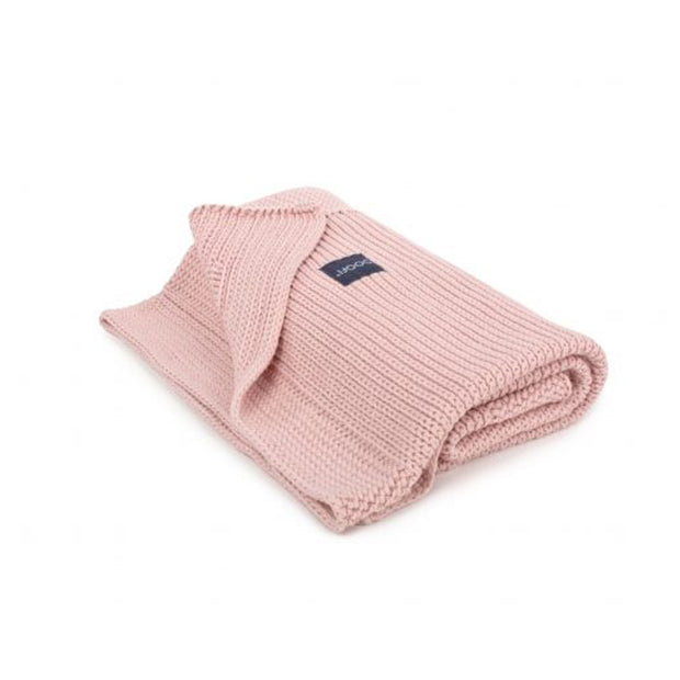 Organic Knitted Classic Blanket - Vintage Pink