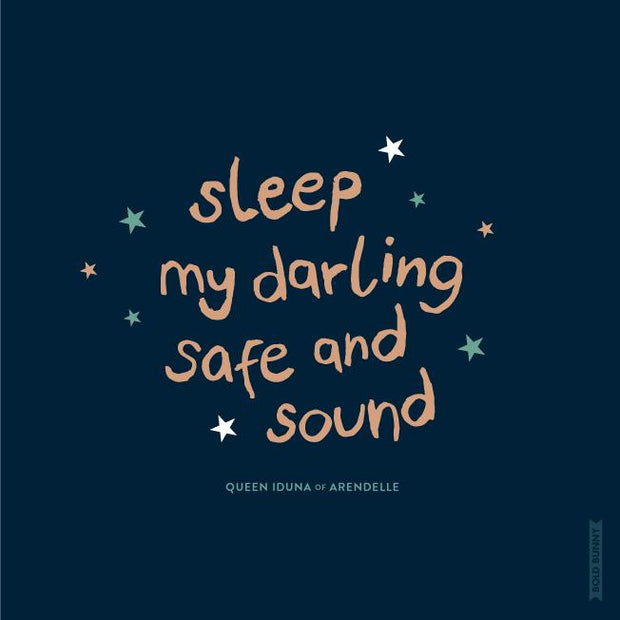 BOLD BUNNY - SLEEP MY LITTLE DARLING PRINT