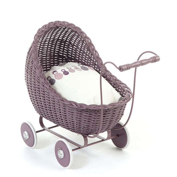 Dolls Pram Stroller - Dark Rose