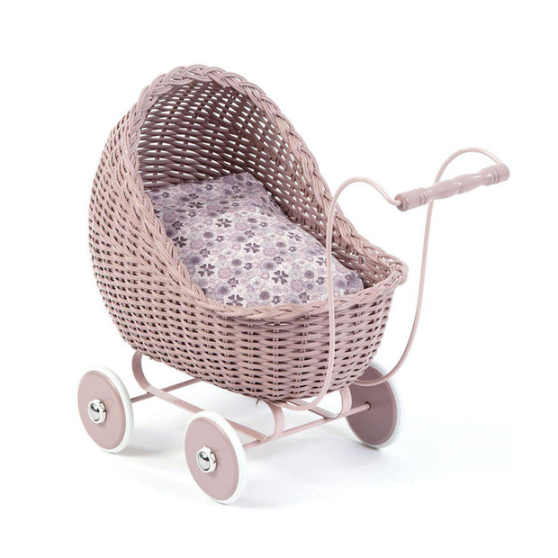 Dolls Pram Stroller - Powder Pink