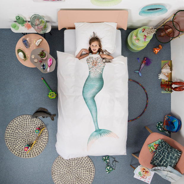 Snurk Mermaid Organic Bedding Set