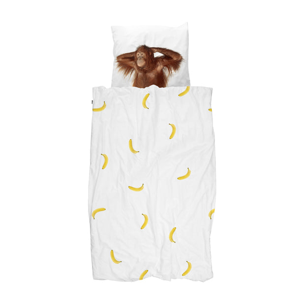 Snurk Monkey Organic Bedding Set