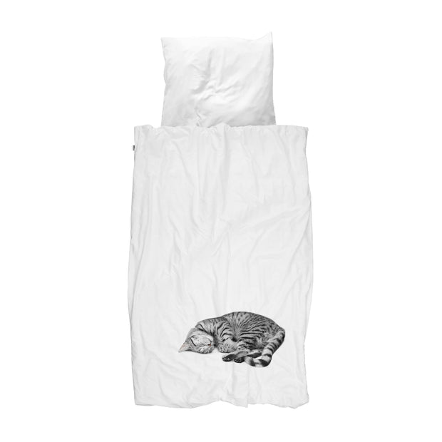 Snurk Ollie Cat Organic Bedding Set