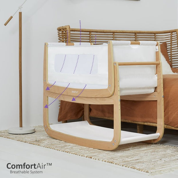 NEW SnuzPod4 Bedside Crib - Natural