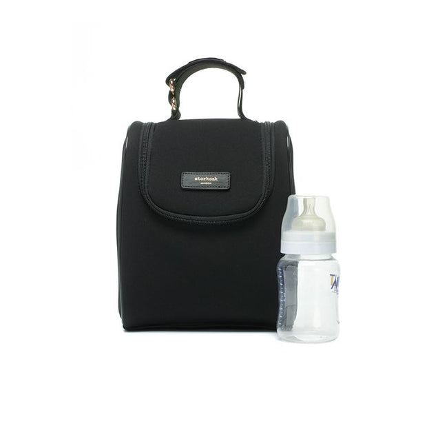 STORKSAK STEVIE LUXE SCUBA BABY CHANGING BAG - BLACK