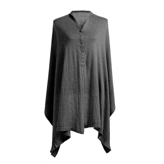 ORGANIC NURSING SHAWL - CHARCOAL